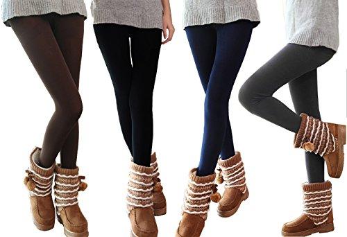set-kit-pack-juego-5-leggins-termicos-mujer-chica-felpa-elasticos-perfecto-invierno-s-m-mws1108