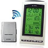Dr. Tech Wireless Weather Station Dew point , Air Pressure , Humidity , Temperature , Weather Forecast , Moon Phase WF-1070T