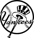 NEW YORK YANKEES LOGO MLB WHITE DECAL VINYL STICKER