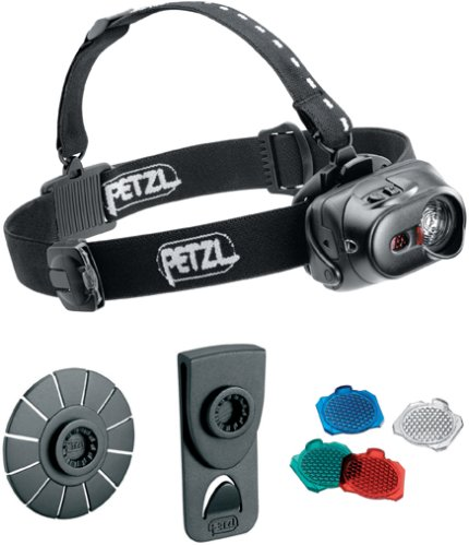 Petzl E89 P TacTikka XP Adapt LED Headlamp with 3 Colored Lenses, Black