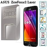 ZenFone 2 Laser ガラスフィルム 5.0インチ ZE500KL ASUS 液晶保護 透明 強化ガラス 国産 フィルムガラス 使用 ラウンドエッジ加工 MS factory 90日 保証 FD-ZF2LS-GLASS-CL