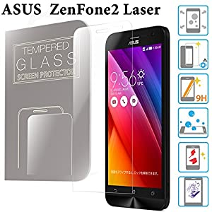 ZenFone 2 Laser ガラスフィルム 5.0インチ ZE500KL ASUS 液晶保護 透明 強化ガラス 国産 フィルムガラス 使用 ラウンドエッジ加工 MS factory 90日 保証 FD-ZF2LS-GLASS-CL