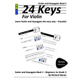 24 Keys Scales and Arpeggios for Violin - Book 1by Richard Moran