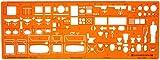 150 échelle Trace Gabarit Darchitecte Symboles de Plan détage Installation Sanitaire Disposition des Meubles Mobilier Décoration dintérieurs Dessin Technique Traçage Illustration Architecture Maisons