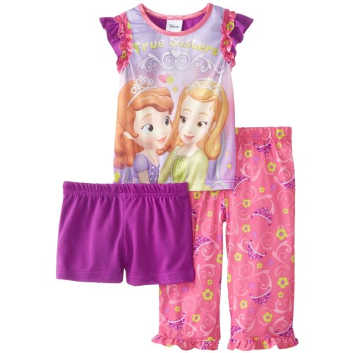 Ame Sleepwear Little Girls' Sofia The First Princess Sofia 3 Piece Pajama Set, Assorted, 6 front-1021860