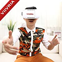 VIIVRIA® 3D Games Google Cardboard 3D Visual Reality VR Video Glasses for 4.7-6.1 Inches iPhone 6 Plus iPhone 6, Samsung Galaxy S3 S4, Note 3 Note 4,LG etc.smartphone (3D VR Glasses 1nd) from VIIVRIA
