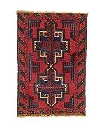 Eden Carpets Alfombra Beluchistan Rojo/Azul 126 x 86 cm