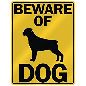 "Amazon.com - BEWARE OF "" ROTTWEILER "" PARKING SIGN DOG"