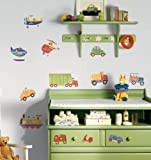 RoomMates RMK1132SCS Transportation Peel and Stick Wall Decals