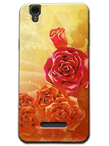 Kaira Brand High Quality Designer Soft silicon Back Case cover(Transparent) For Micromax Yu Yureka Mobile (Red Rose)