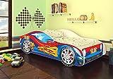 Autobett Junior in vier Farben mit Lattenrost und Matratze 70x140