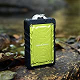 ZeroLemon ZeroShock Rugged 7800mAh Rain-resistant and Dirt/Shockproof Dual USB Port Portable Charger Backup External Battery Power Pack for iPhone 5S 5C 5 4S 4, iPods(Apple Adapters not Included), Samsung Galaxy S5 S4, S3, S2, Note 3, Note 2, Most Kinds of Android Smart Phones,Windows phone and More Other Devices (Yellow) (7800mAh ZeroShock Yellow)