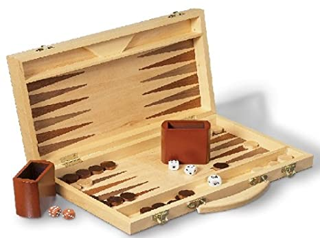 Okoia - Jeux Traditionnels Mallette Backgammon Luxe