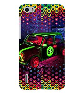 PRINTVISA Abstract Car Case Cover for Huawei Honor 6