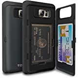 Galaxy Note 5 Case, TORU [CX PRO] - [CARD SLOT] [ID Holder] [KICKSTAND] Protective Hidden Wallet Case With Mirror...