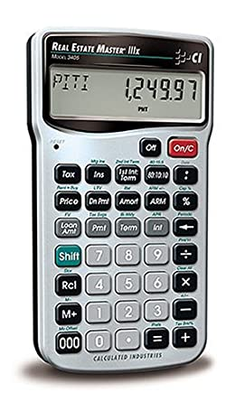 Calculated Industries 3405 Real Estate Master IIIX Real Estate Finance Calculator