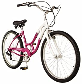 a6cb40a5ad8 Schwinn Southport Women's Cruiser Bike (26-Inch Wheels, White/Fuschia) price