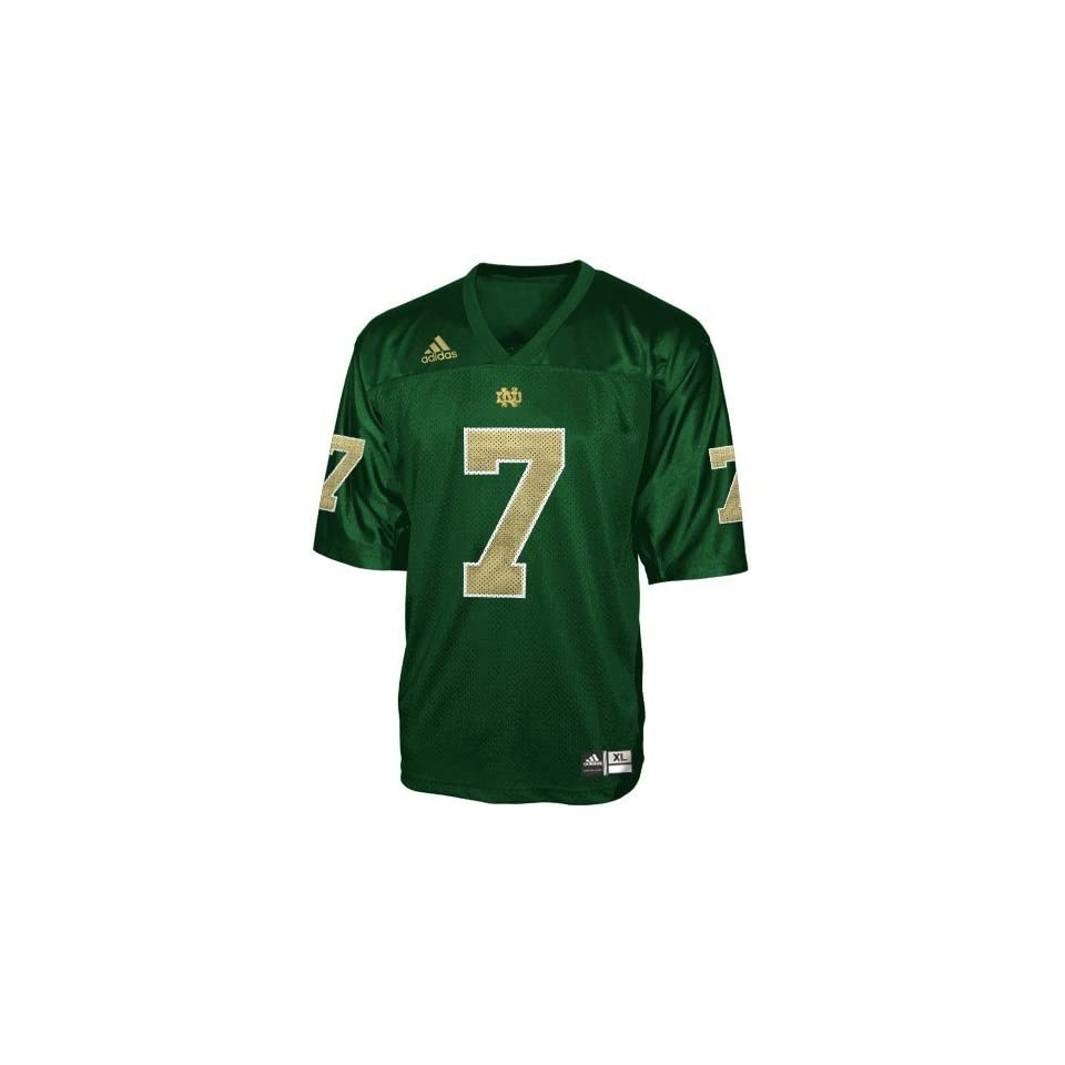 adidas Notre Dame Fighting Irish #7 Green Youth Replica Football Jersey