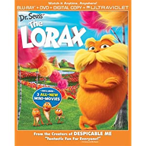 Dr. Seuss&#39; The Lorax Combo Pack (Two Discs: Blu-ray + DVD + Digital Copy + UltraViolet)
