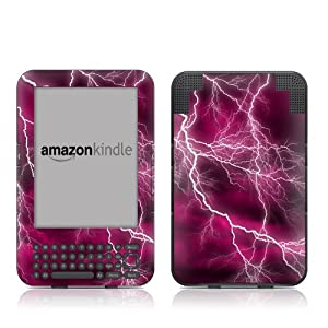 """Kindle Keyboard Skin - Apocalypse Pink - High quality precision engineered removable adhesive skin sticker decal wrap for for the 3G + Wi-Fi 6"""" E Ink Display Kindle 3"""