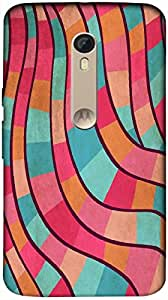 Timpax Slip-resistant, stain-resistant and tear-resistant Hard Back Case Cover Printed Design : Colourful Pattern.Exclusively Design For : Motorola Moto X-3 ( 3rd Gen )