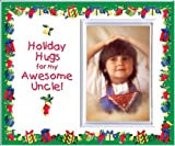 Holiday Hugs for My Awesome Uncle Christmas Picture Frame Gift