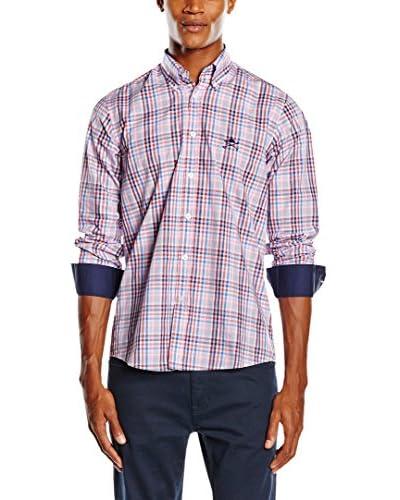 POLO CLUB Camisa Hombre Sticks Trend Shirt Top Rojo / Azul