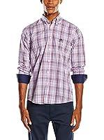 Polo Club Camisa Hombre Sticks Trend Shirt Top (Rojo / Azul)
