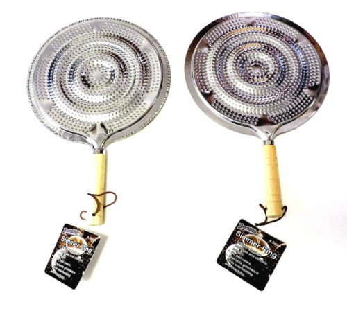 2 Set Flame Tamer Stovetop Simmer Ring Aluminum Heat Diffuser Gas Electric Range