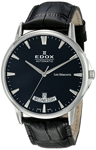 Edox-Mens-83015-3-NIN-Les-Bemonts-Swiss-Automatic-Black-Watch