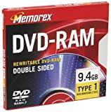 Memorex 9.4GB Double-Sided DVD-RAM (Single)