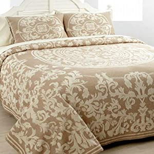 Cody Direct Chloe Jacquard Khaki Full Bedspread