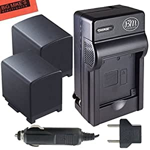 BM Premium 2-Pack of BP-820 Batteries and Charger for Canon VIXIA HFG10 HFG20 HFG30 HF G40 HFM30 HFM31 HFM32 HFM300 HFM301 HFM40 HFM41 HFM400 HFS10 HFS11 HFS20 HFS21 HFS30 HFS100 HFS200 HF11 HF20 HF21 HF200 HG20 HG21 XA10 XA20 XA25 XA30 XA35 Camcorder