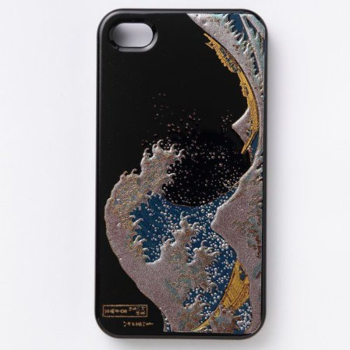 iPhone5S hard case Japanese style lacquered Makie Katsushika Hok...
