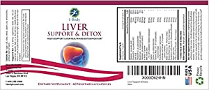 Liver Support - Detox & Cleanse Supplement (Vegetarian) - Advanced Natural Liver Health Formula That Combines Milk Thistle, Selenium, Turmeric Curcumin, Vitamin B12, Vitamin C, Alpha Lipoic Acid, N Acetyl Cysteine, Magnesium, Taurine, and More - 30 Day Su