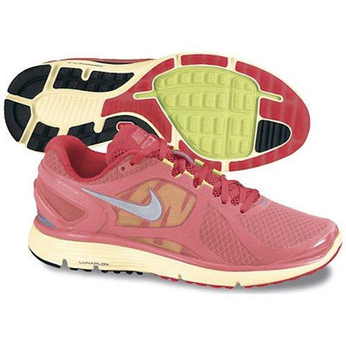 e295010f24bb0 Feature of Nike Women s LunarEclipse 2 Running Shoe Hot Punch Siren Red  Cashmere Metallic Silver 6 B US