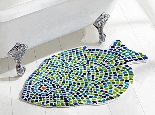 Better Trends / Pan Overseas Fish Mosaic Bath Rug, 24