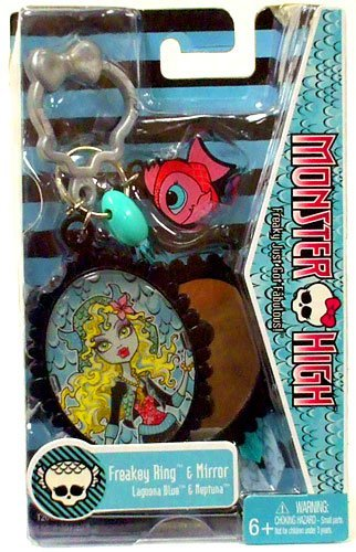 Monster High Freakey Ring Mirror Lagoona Blue Neptuna - 1