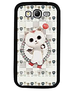 Fuson 2D Printed Cat Designer back case cover for Samsung Galaxy Grand 2 - D4266