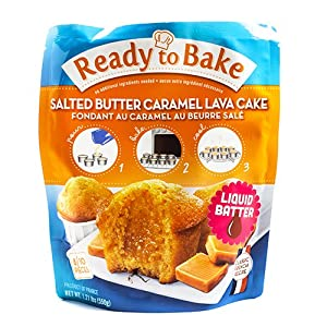 Salted Butter Caramel Lava Cake by Ready to Bake (1.21 pound)