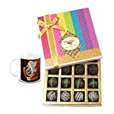Chocholik Belgium Chocolates - Dark Flavour Truffle Collection Gift Box With Diwali Special Coffee Mug - Gifts...
