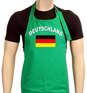 Coole-Fun-T-Shirts Uni Grillschürze EM 2012 Deutschland Flagge, grün, One size, GS10483_Deutschland_green