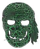 Biwinky Máscara de Cráneo para Fiestas de Halloween Niños Verde