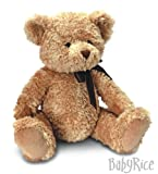 BabyRice New Baby Boy or Girl Gift Soft & Cuddly Traditional Style Brown Teddy Bear 'Sherwood' 28cm