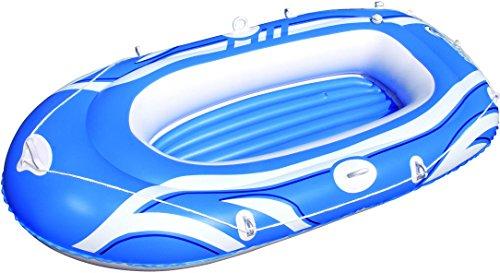 Bestway Tidal Wave Canotto Hydro-Force, Blu / Rosso / Giallo, Misura da Sgonfio: 197cm x 115cm