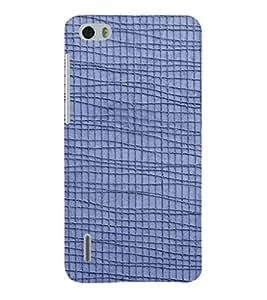 EPICCASE blue lines Mobile Back Case Cover For Huawei Honor 6 (Designer Case)