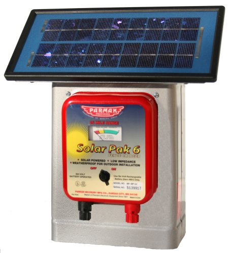 Parmak DF-SP-LI Solar Pak 6 Low Impedance 6-Volt Battery-Operated 25-Mile-Range Electric Fence Charger (Battery Electric Fence compare prices)
