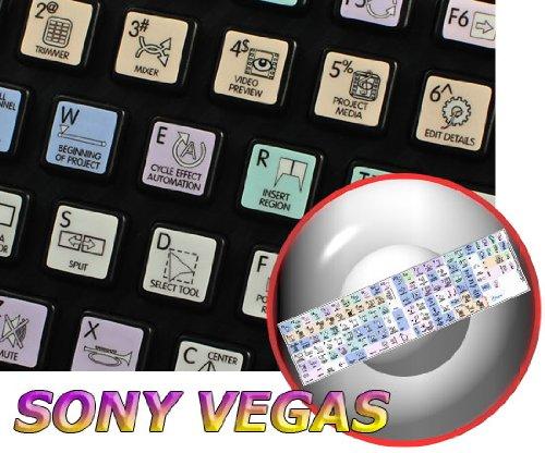 Sony Vegas Galaxy Series New Keyboard Stickers Shortcuts 12X12 Size