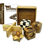 Five Puzzles in a Tricky Box - Gift Set - 5 Great Puzzles to Solve
