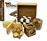 Four Puzzles in a Tricky Box - Gift Set - 5 Great Puzzles to Solve